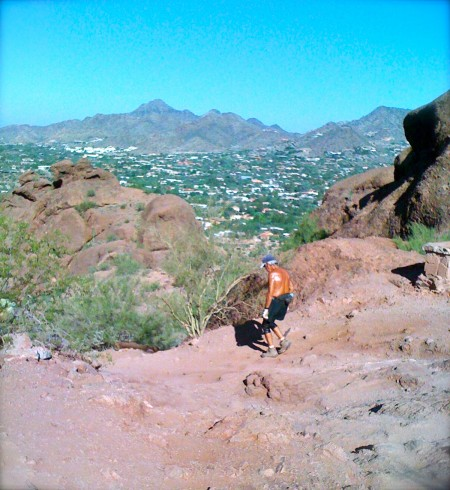 View from the top of Camelback Mountain in Scottsdale AZ