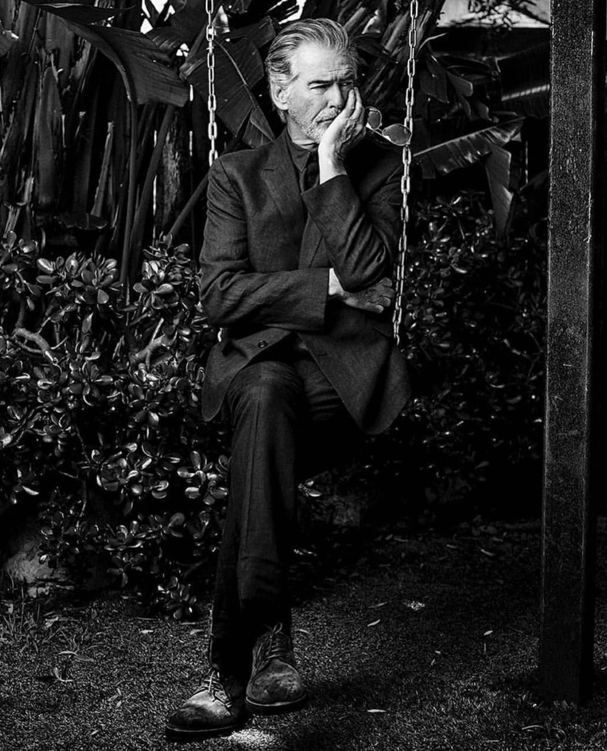 Pierce Brosnan looking stylish at age 66